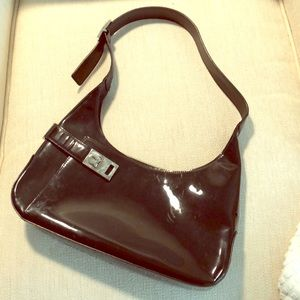 Ferragamo Black Patent Handbag